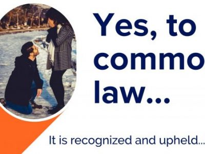 FAQ – common law? Yes, it's valid but varies…for example in marriage/divorce property division