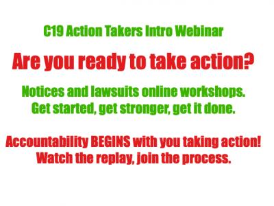 Webinar and Workshop: Take Action: C19 Proactive Measures